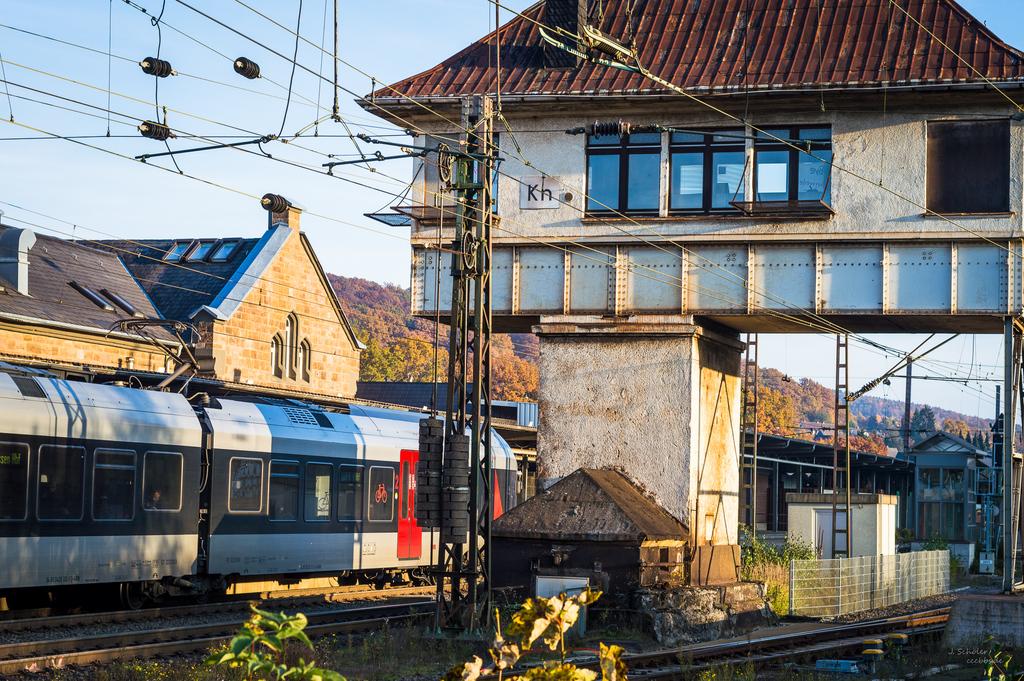 Bahnhof Kreuztal - aufgenommen vom Café Basico