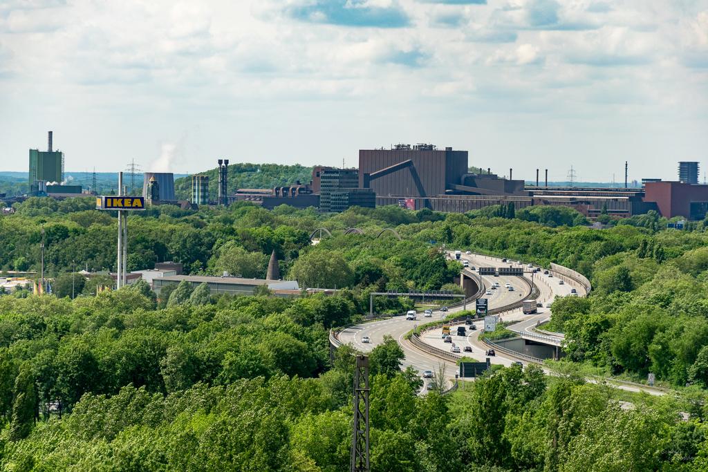 Aussicht auf das Ruhrgebiet vom Hochofen V im LaPaDu